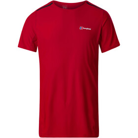 Berghaus Super Tech Camiseta Base Manga Larga Cuello Barco Hombre, haute red
